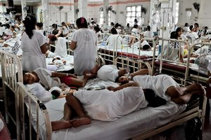 Hospital de maternidad en Filipinas, foto de archivo