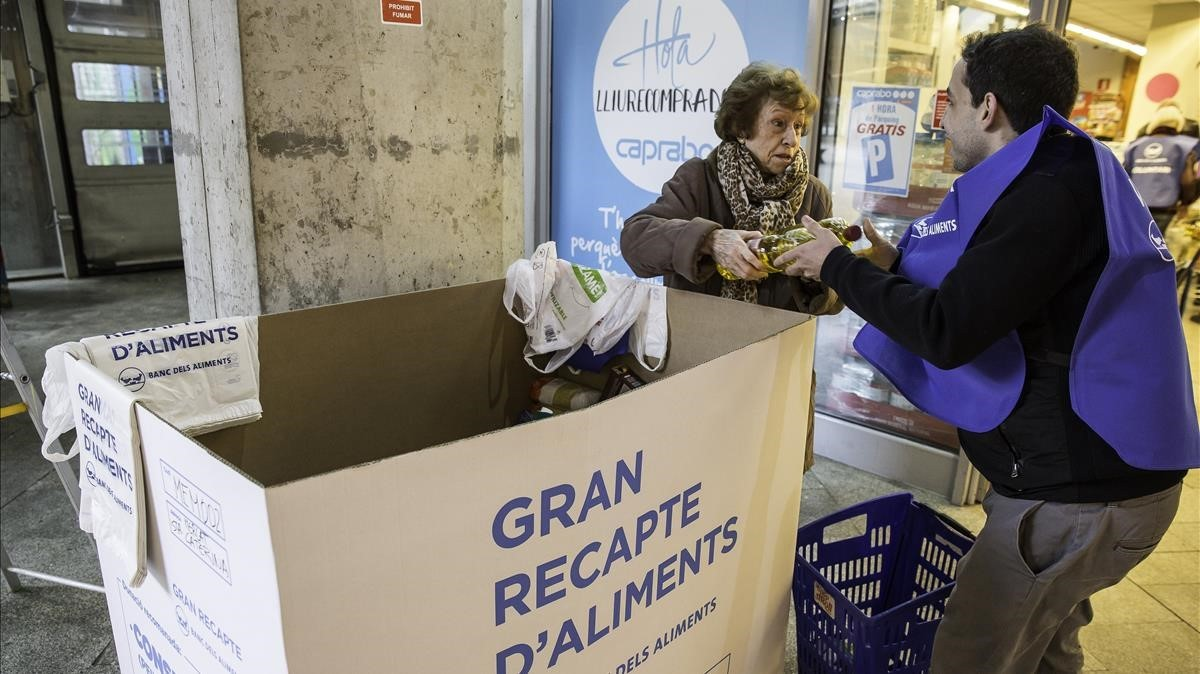 Hoy se inicia el Gran Recapte por parte del Banc dels Aliments.