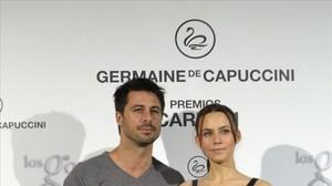 Hugo Silva y Aura Garrido, que han sido premiados en la segunda edición de los Premios Carmen a la Belleza más Internacional del Cine Español en los que se galardonan las carreras con mayor proyección a nivel global de nuestros actores y actrices.