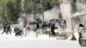 Imagen de archivo de un atentado en Kabul.