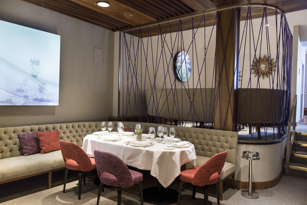 Una sala del restaurante Arahy.