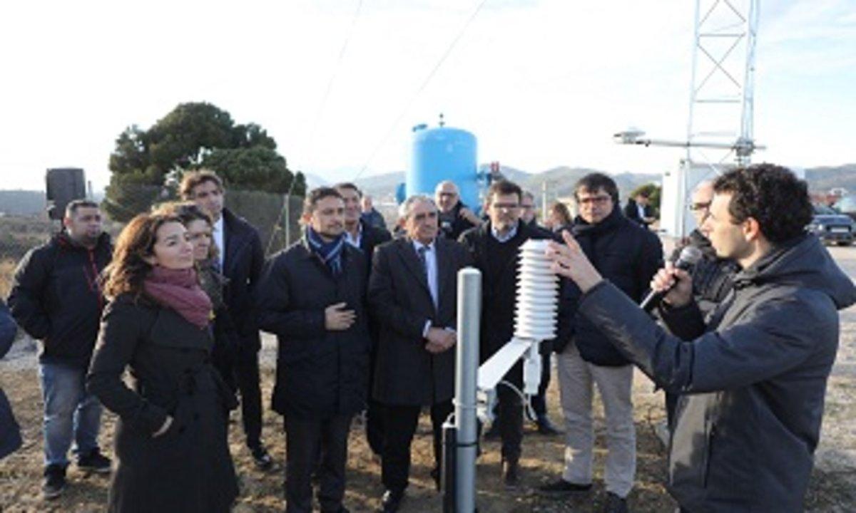 Inauguración de la nueva estación metereológica automática de Terrassa.