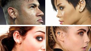 De izquierda a derecha, y de arriba a abajo, Neymar, Rihanna, Miley Cyrus y Cara Delevigne.