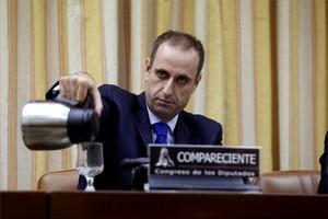 Jaime Ponce, presidente del FROB, durante una comparecencia en el Congreso.