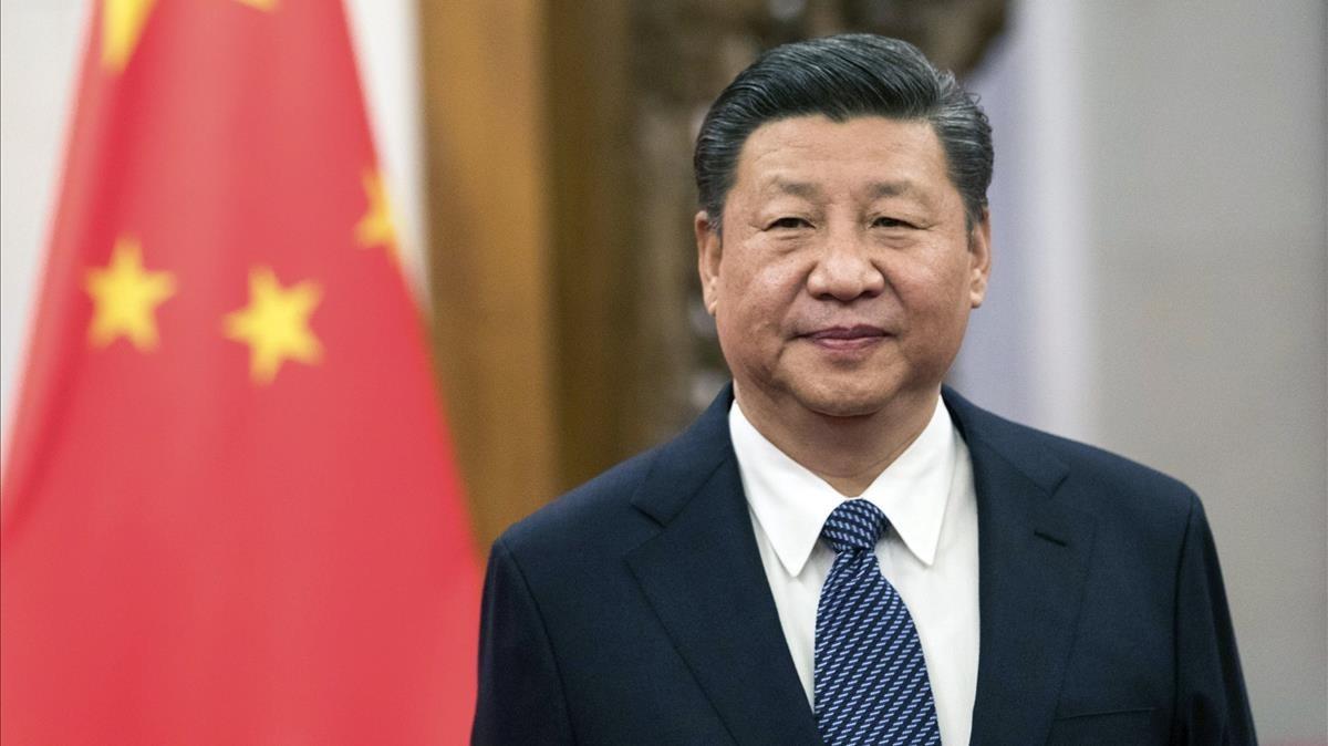 Xi Jinping, en Pekín, el 1 de febrero.