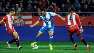 El Girona tomba el Deportivo i dormirà en posicions europees (2-0)