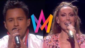 Jon Henrik Fjällgren y Lina Hedlund, nuevos finalistas del Melodifestivalen 2019.