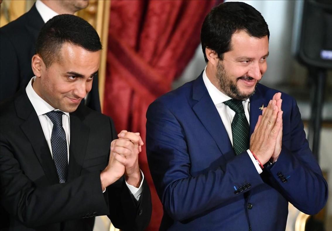 Los dos viceprimerministros del Gobierno italiano, Luigi Di Maio y Matteo Salvini.