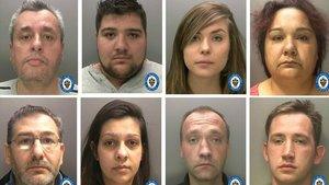 Los miembros de la banda detenida por tráfico y explotación