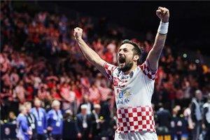 Luka Cindric en una imagen de archivo con Croacia en el Europeo de balonmano 2020.