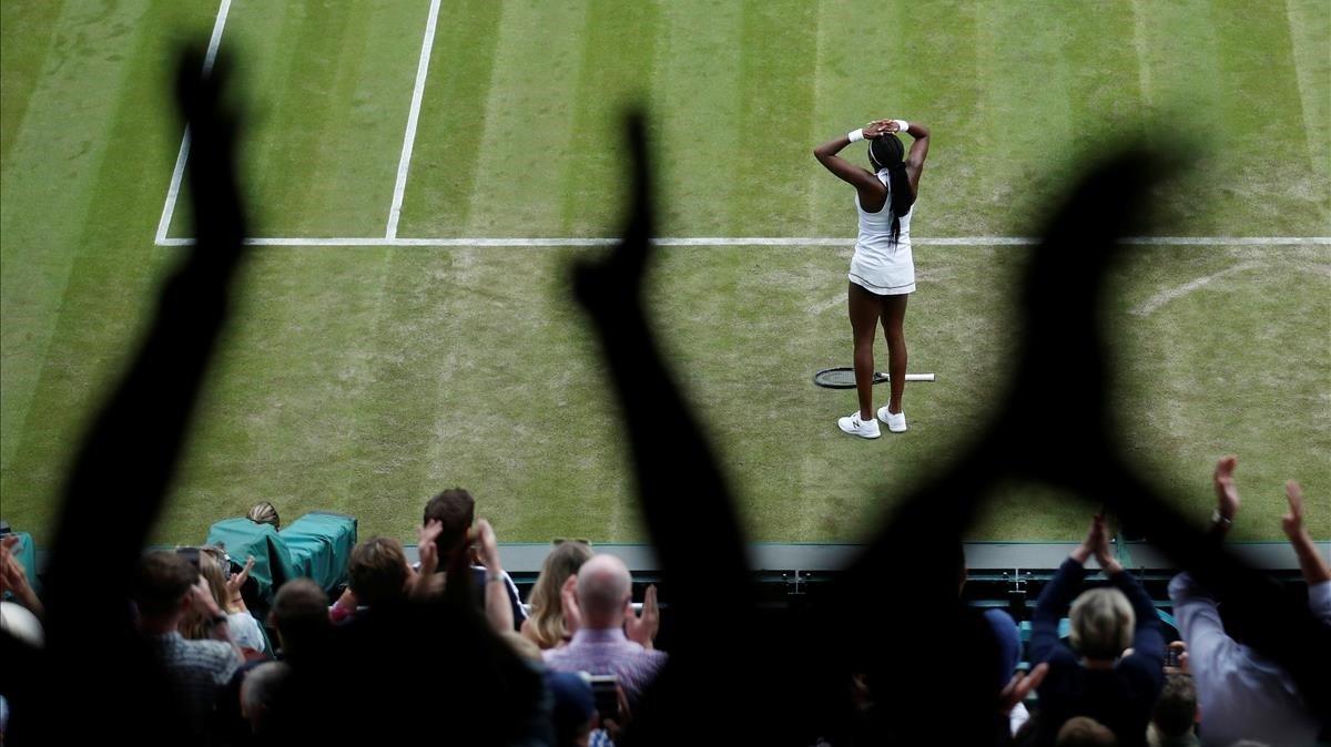 La jove de quinze anys 'Coco' Gauff elimina Venus Williams