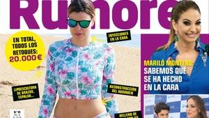 María Lapiedra, en la portada de 'Rumore'.