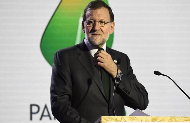 Mariano Rajoy, en la cumbre del clima de París.