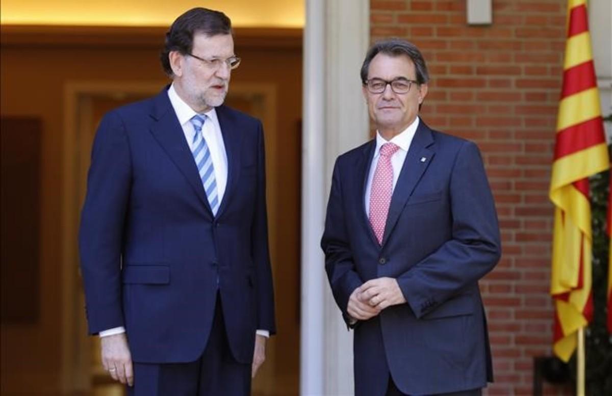 Mariano Rajoy y Artur Mas, el 28 de julio del 2014.