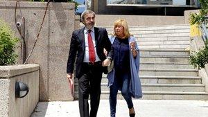 La aristócrata Cristina Ordovás Gómez-Jordana, a su salida del juicio en la Audiencia Provincial de Madrid.