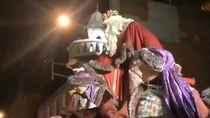 L'Ajuntament de Terrassa es disculpa per l'actitud del rei Melcior durant la cavalcada de Reis 2020