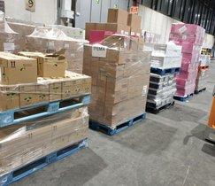 Productos donados por Mercadona a Ifema.
