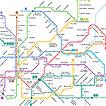 Mapa parcial del metro de Barcelona.
