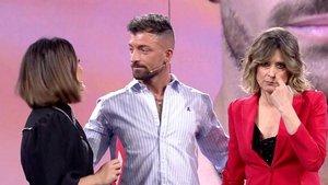 Nagore, Rubén y Sandra Barneda en 'El debate de las tentaciones'.