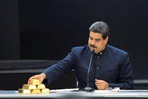 Nicolas Maduro tiene que recurrir a las reservas de oro para tener ingresos tras las sanciones de EEUU.REUTERS Marco Bello
