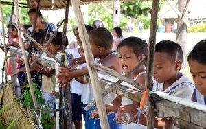 Niños de una escuela en Nicaragua.