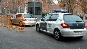 Oriol Junqueras llegaa la Audiencia Nacional en un vehículo camuflado.