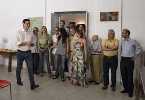 Pedro Sánchez ha votado en su agrupación de Madrid.