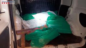 La droga, en el coche interceptado en LArboç.