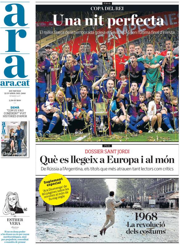 Goleada del Barça en los medios y de los diarios de Madrid contra Montoro