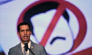 El presidente interino y de la Asamblea Nacional de Venezuela, Juan Guaidó.