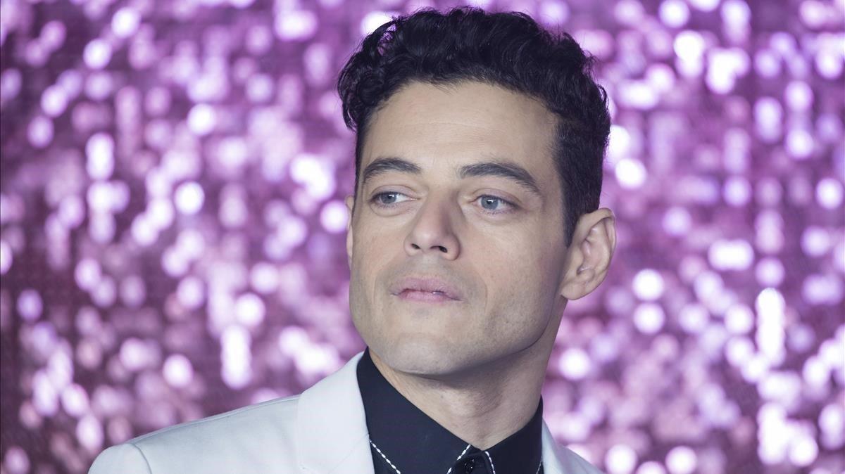 Rami Malek, en la presentación de Bohemian rhapsody en Londres, el pasado 23 de octubre