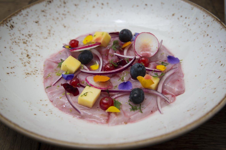 Receta de ceviche de corvina de Kate Preston, directora gastronómica del restaurante Ajoblanco.