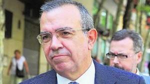 Roberto López Abad, exdirector general de la CAM, a su llegada a la Audiencia Nacional, el pasado julio.