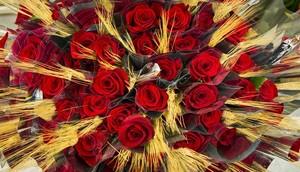 Roses preparades per Sant Jordi.