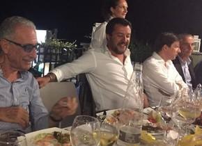 Salvini en una de las imágenes compartidas en redes sociales.