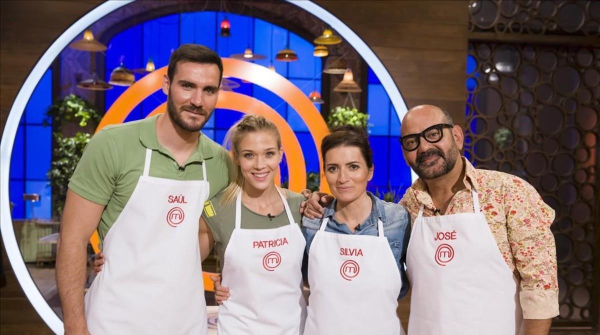 Saúl Craviotto, Patricia Montero, Sílvia Abril y José Corbacho, los cuatro finalistas de la segunda edición de Masterchef celebrity (TVE-1).