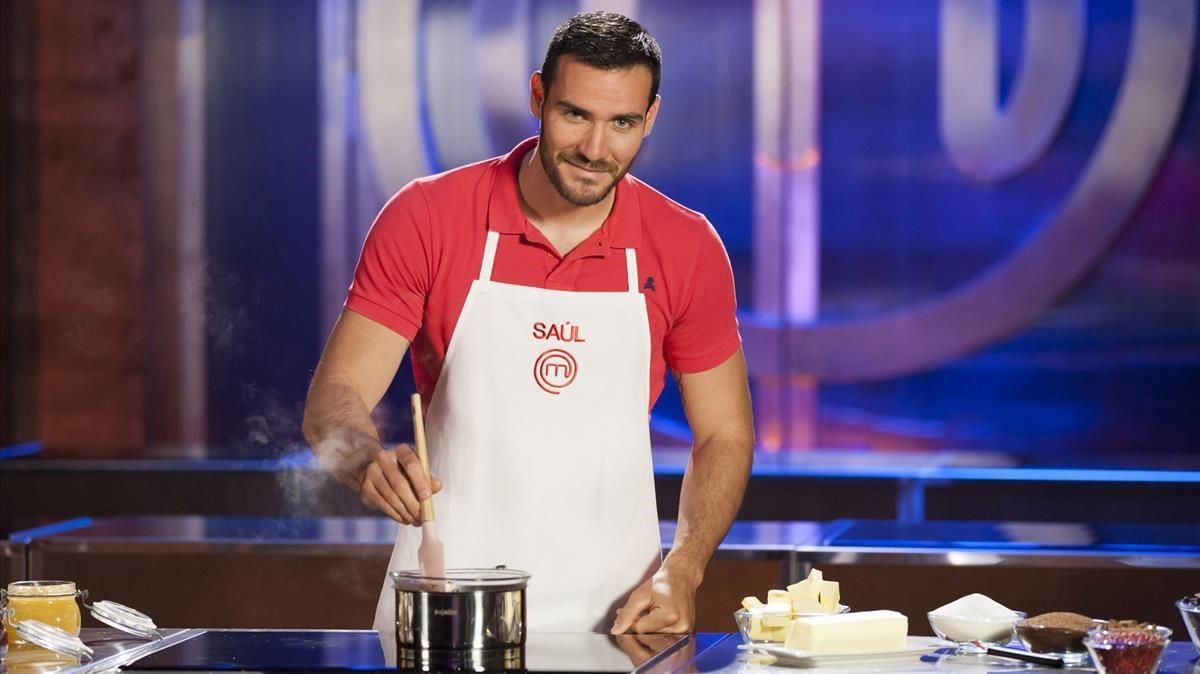 Saúl Craviotto, ganador de la segunda edición del concurso gastronómico de TVE-1 'Masterchef Celebrity'.