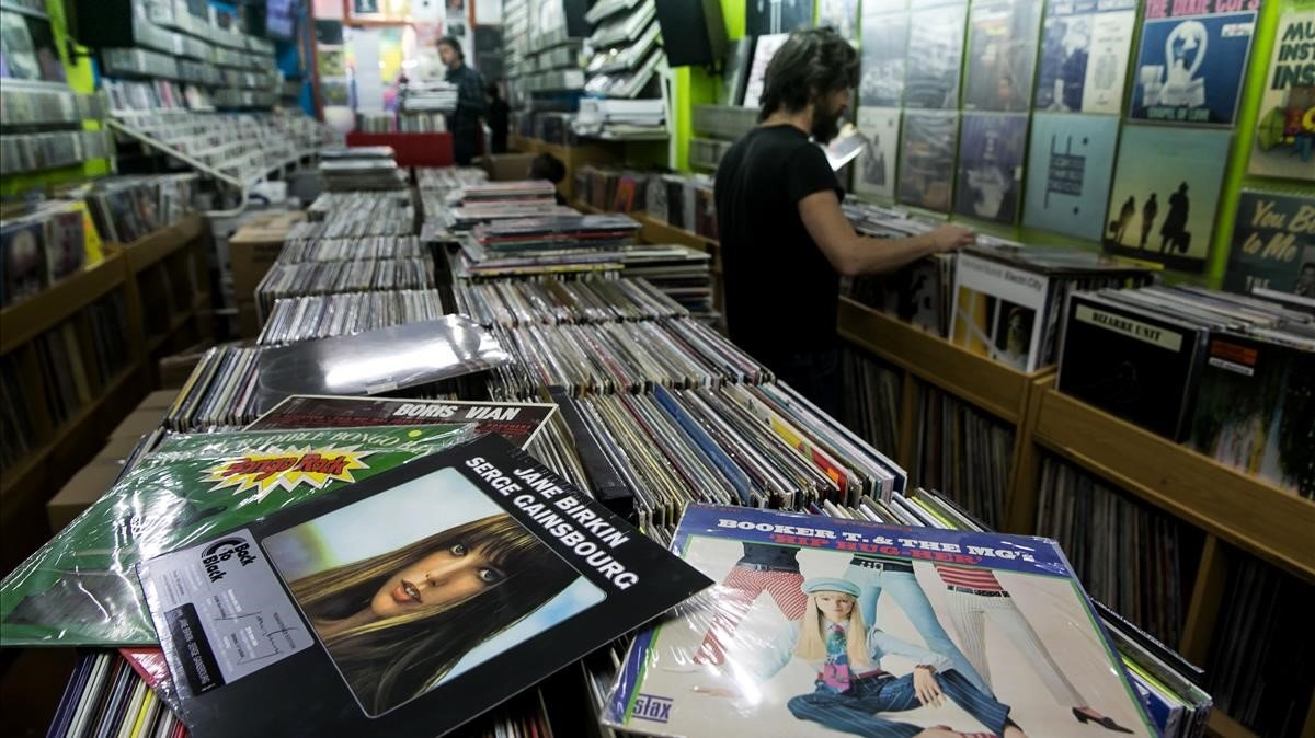 La tienda de discos Wah Wah, en Barcelona, en el 2018.