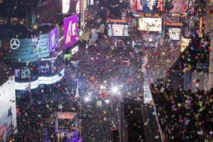 Celebración de Fin de Año del 2017 en Times Square.