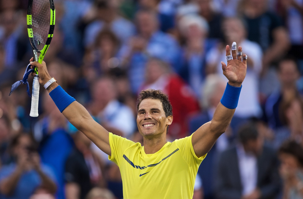 Rafael Nadal celebra la victoria en Montreal.