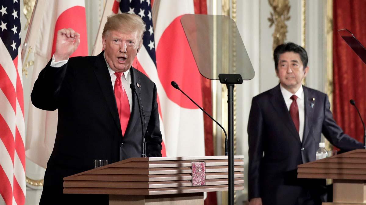 Trump y Abe divergen sobre los últimos ensayos de armas de Pionyang.