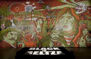 Una de las piezas de la muestra 'Black is Beltza', de Fermín Muguruza.
