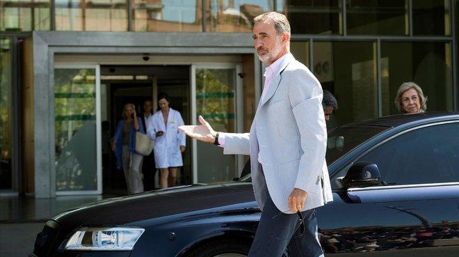 Joan Carles I, a la seva arribada a la clínica: «Em veureu a la sortida»