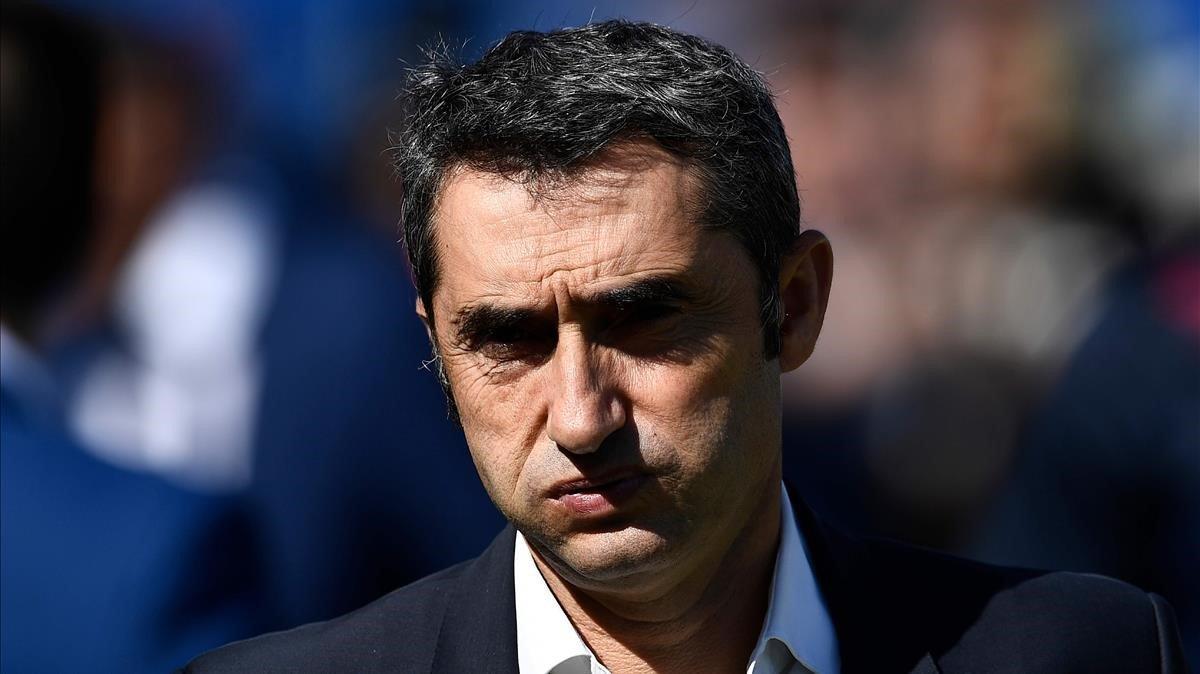 Valverde, durante el Getafe-Barça en el Coliseum Alfonso Pérez.