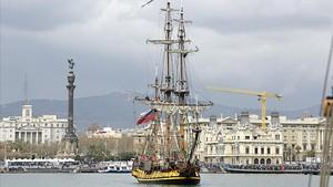 Réplica del 'Shtandart', el primer buque de guerra de la armada rusa qeu el zar Pedro I el Grande mandó construir en 1703.