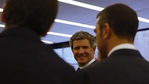 Francisco J. Riberas, tras la asamblea del IEFE en Barcelona.