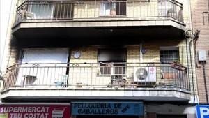 Un fallecido en el incendio de un piso en Rubí