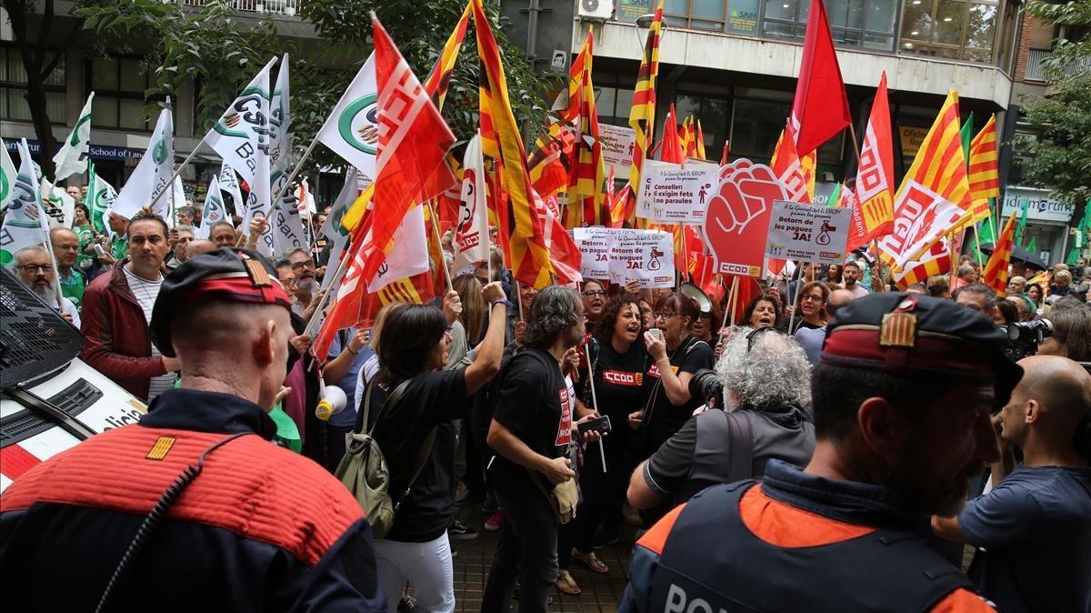 Desconvocada la vaga de funcionaris d'aquest dijous a Catalunya