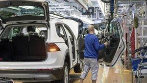 Planta de producción de Volkswagen.