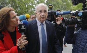 Rafael Blasco, exconseller valenciano, a su entrada a la Ciudad de la Justicia este lunes para el inicio del segundo juicio del caso cooperación